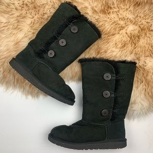 Ugg Bailey Boots Triple Button Black Size 6